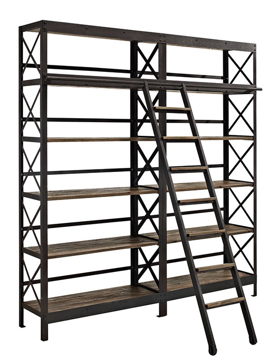 Industrial Wood Shelving Unit