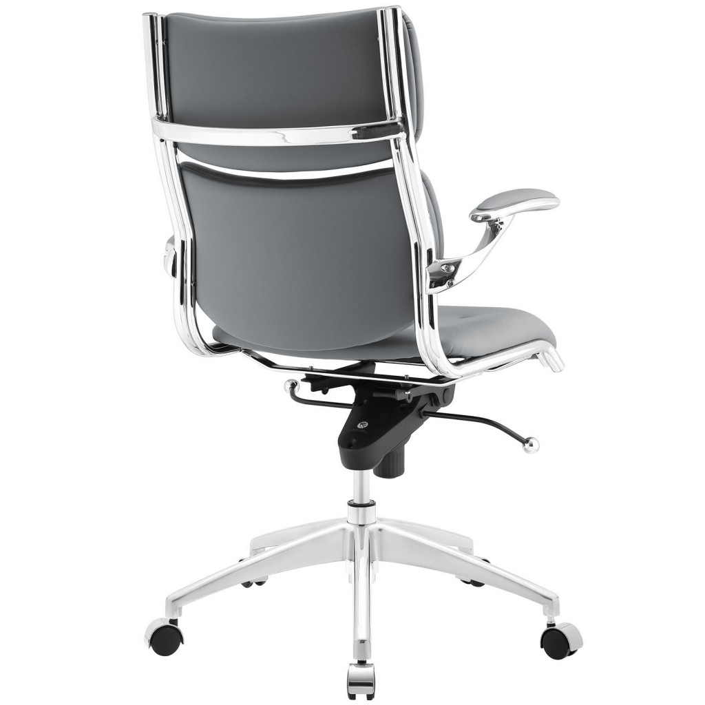 Instant Director Office Chair Gray Leather