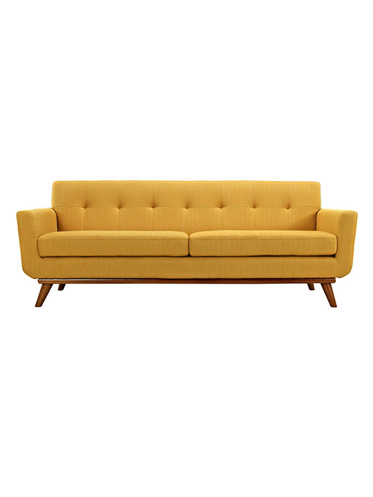Mustard Yellow Pop Art Sofa