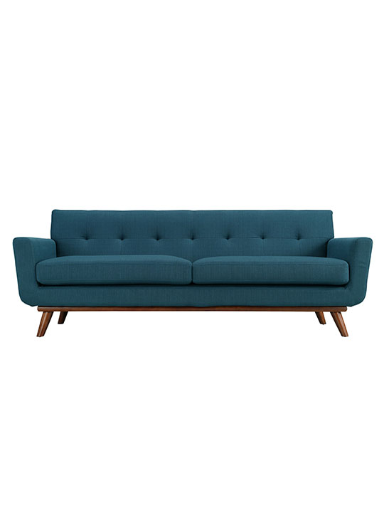 Ocean Blue Pop Art Sofa