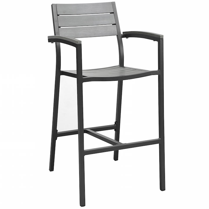 Villa Outdoor Barstool Black 1