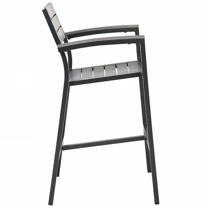 Villa Outdoor Barstool Black 2