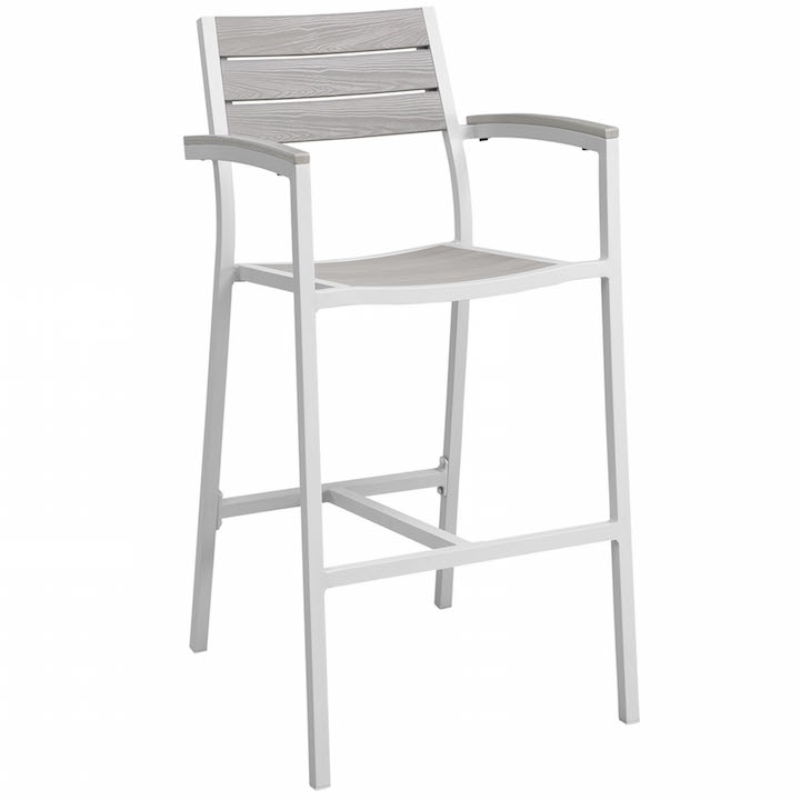 Villa Outdoor Barstool White 1