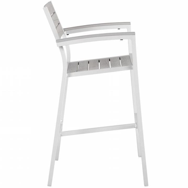 Villa Outdoor Barstool White 2