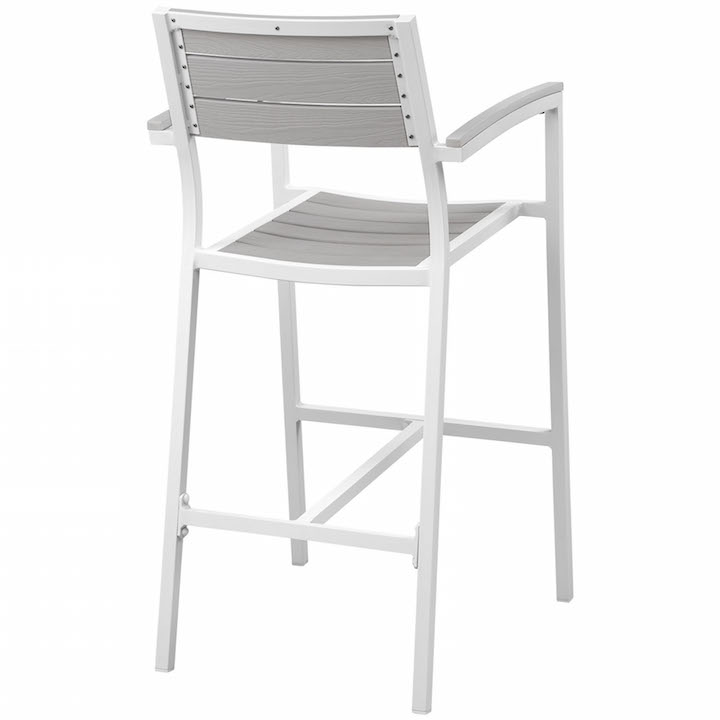 Villa Outdoor Barstool White 3