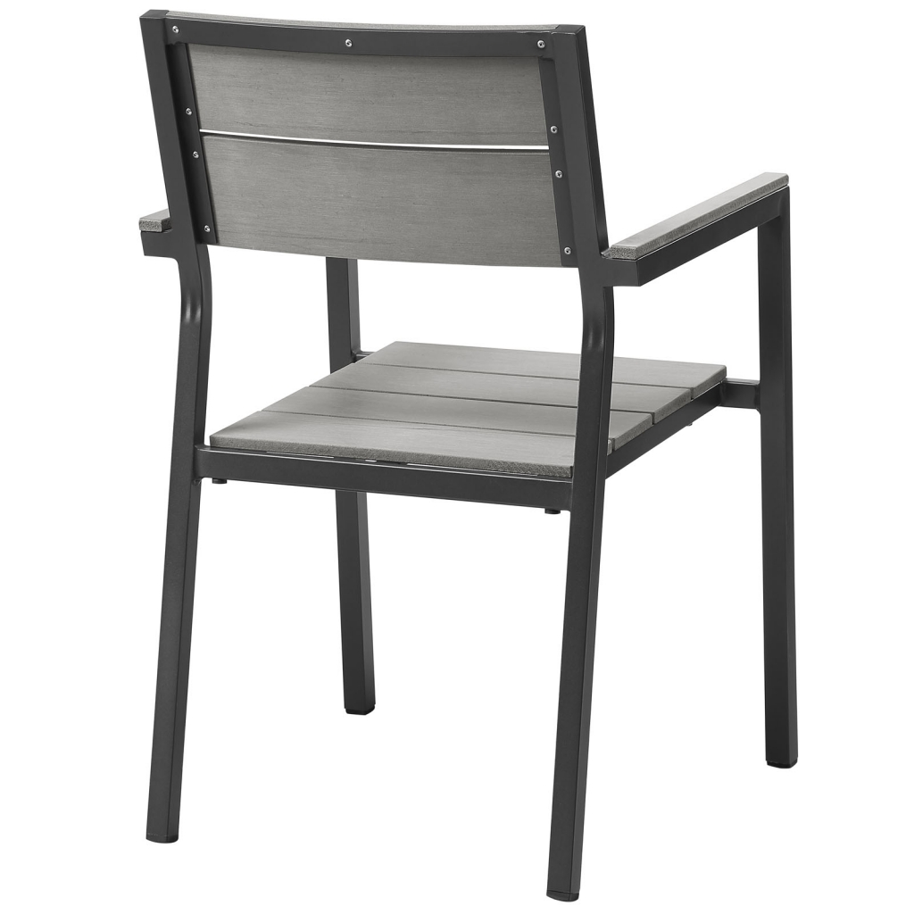 Villa Outdoor Black Chair Black 3