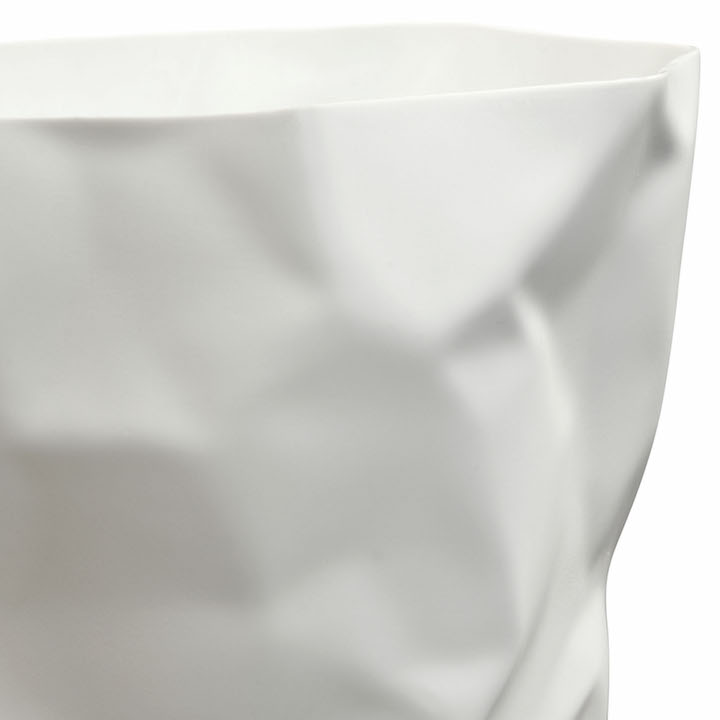 White Paper Sculpt Trash Bin 2
