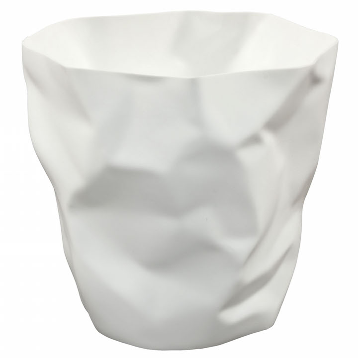 White Paper Sculpt Trash Bin 4