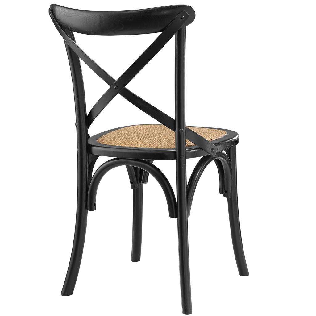 X Black Wood Chair