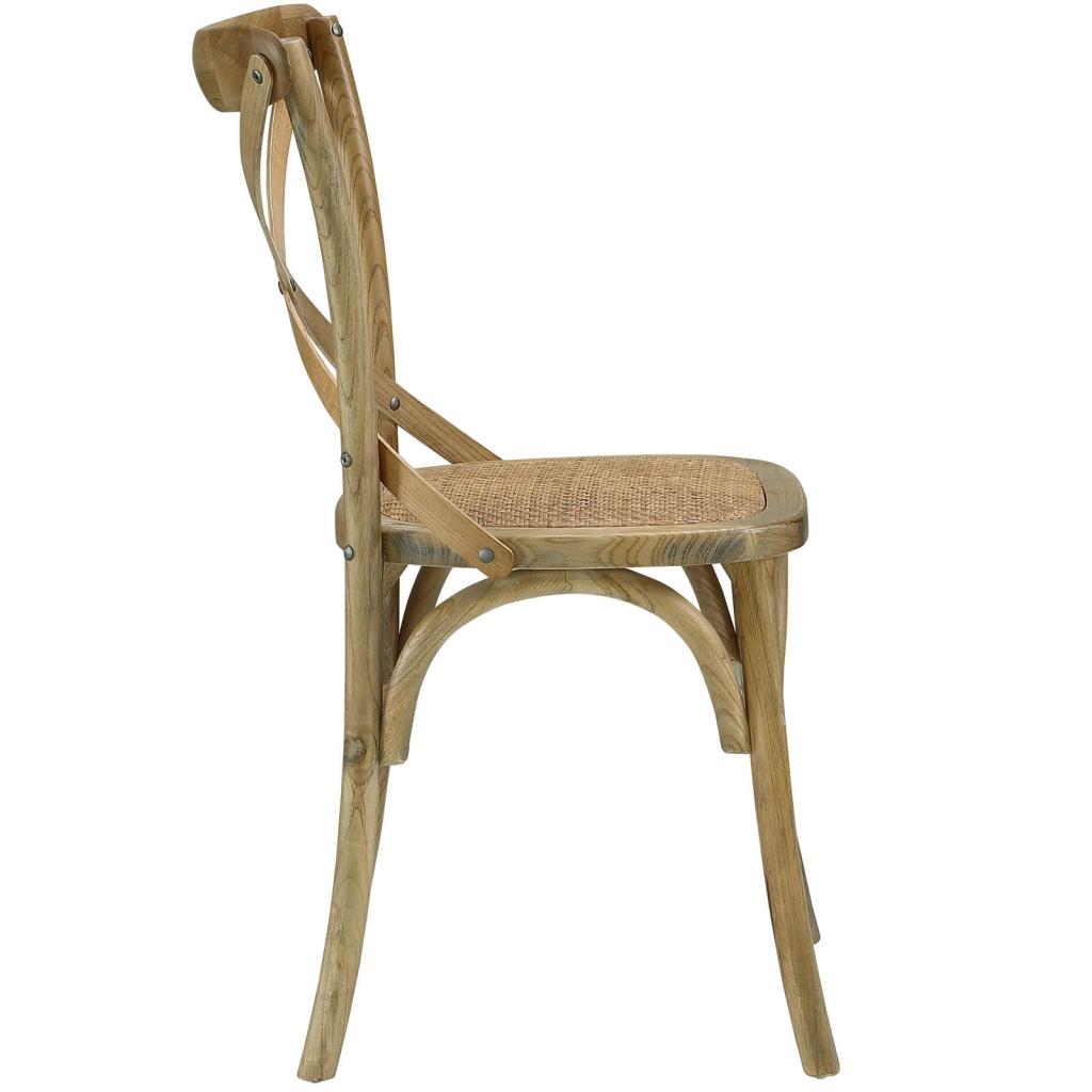 X Natural Wood Chair 3