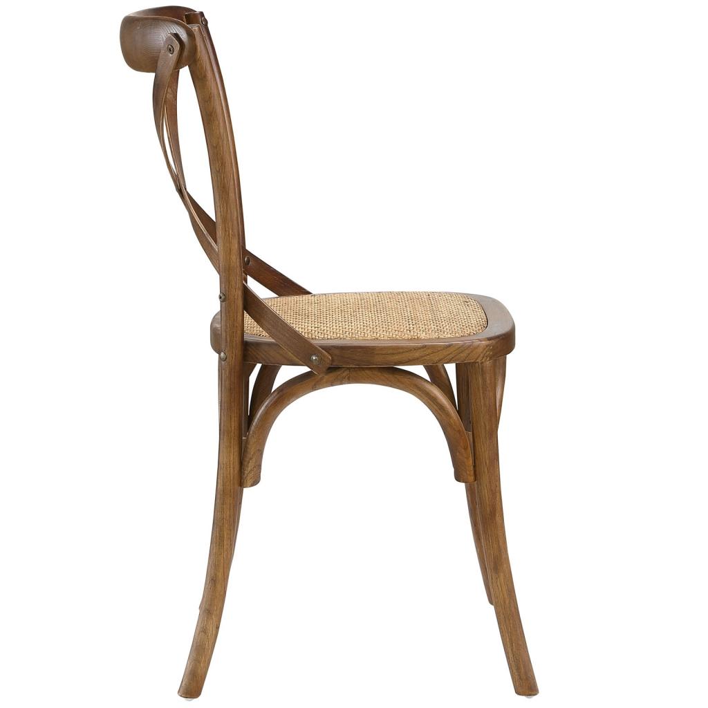 X Walnut Wood Chair 2