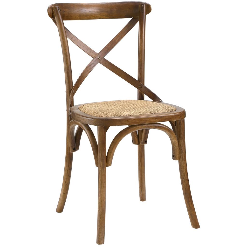 X Walnut Wood Chair 3