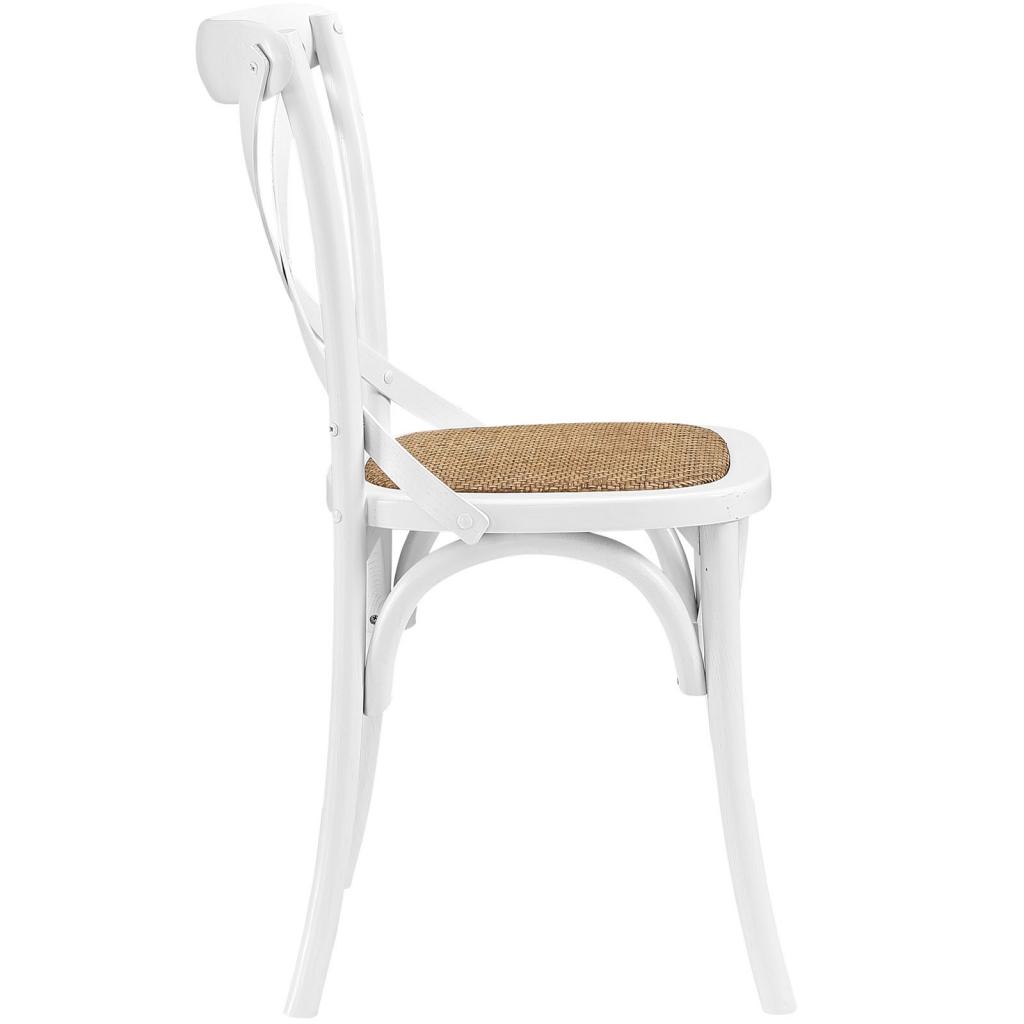 X White Wood Chair 2