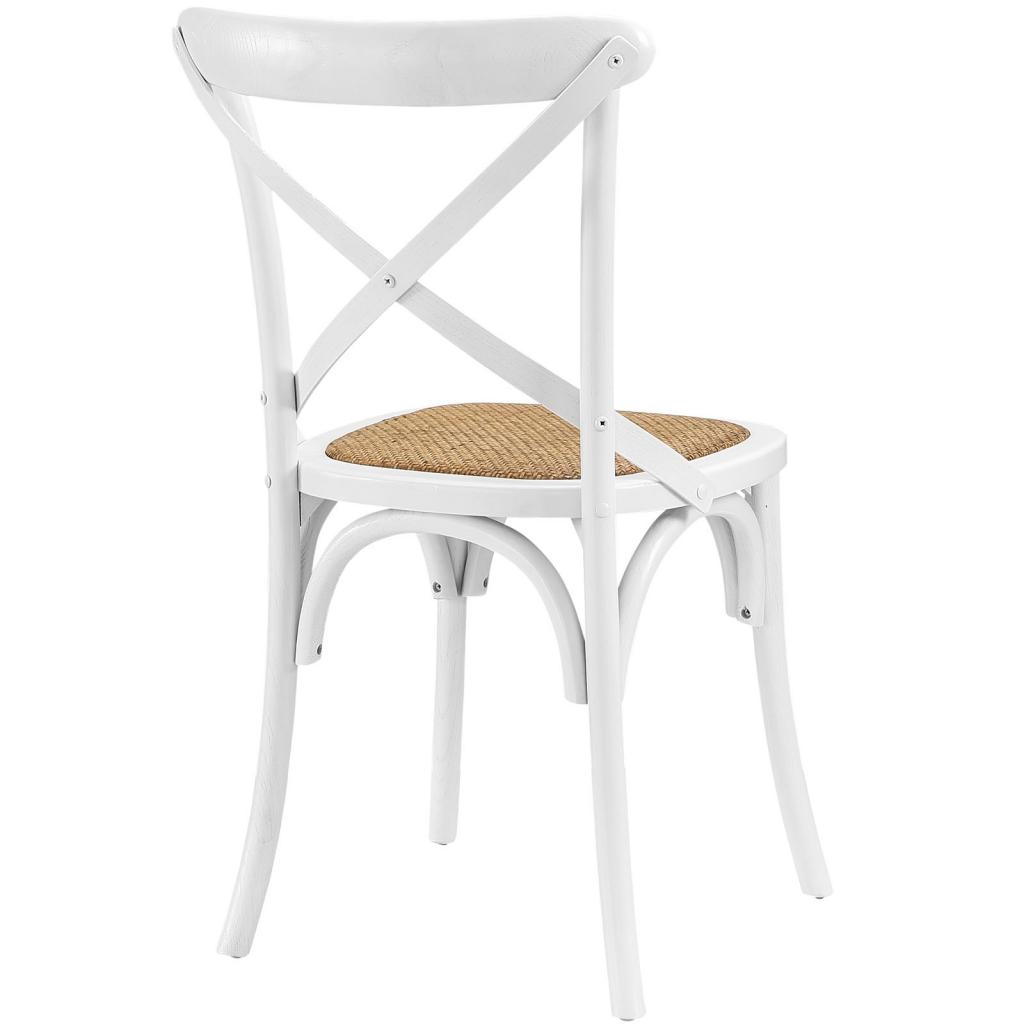 X White Wood Chair