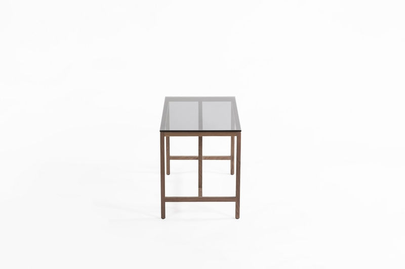 Azzaria Modern Wood Glass Wood Side Table