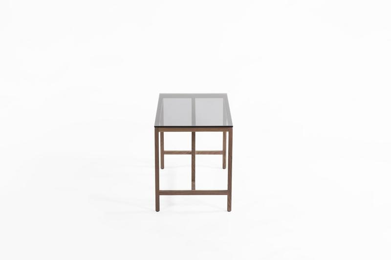 Azzaria Modern Wood Glass Wood Side Table
