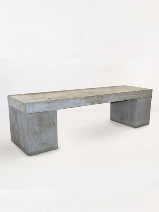 Concrete 3 Seater Bench
