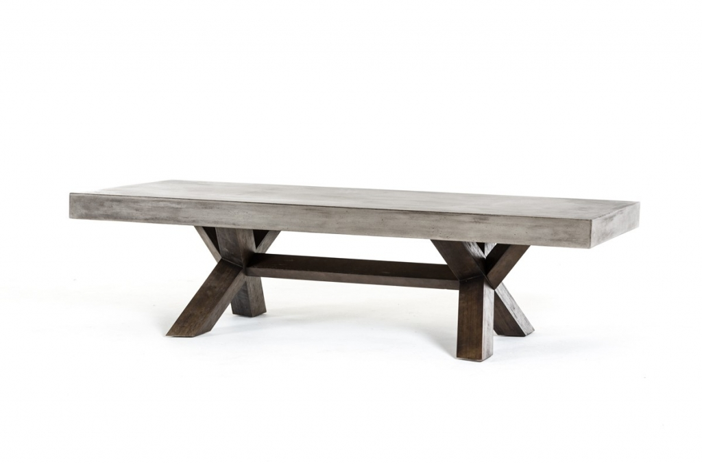 Concrete Wood Coffee Table 1