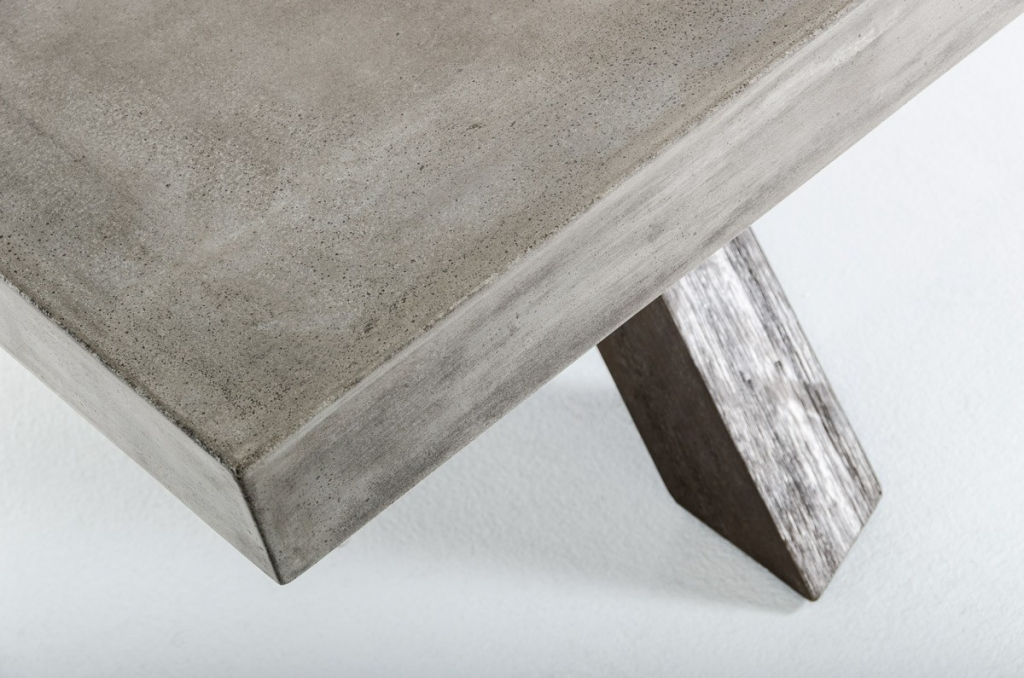 Concrete Wood Coffee Table 2