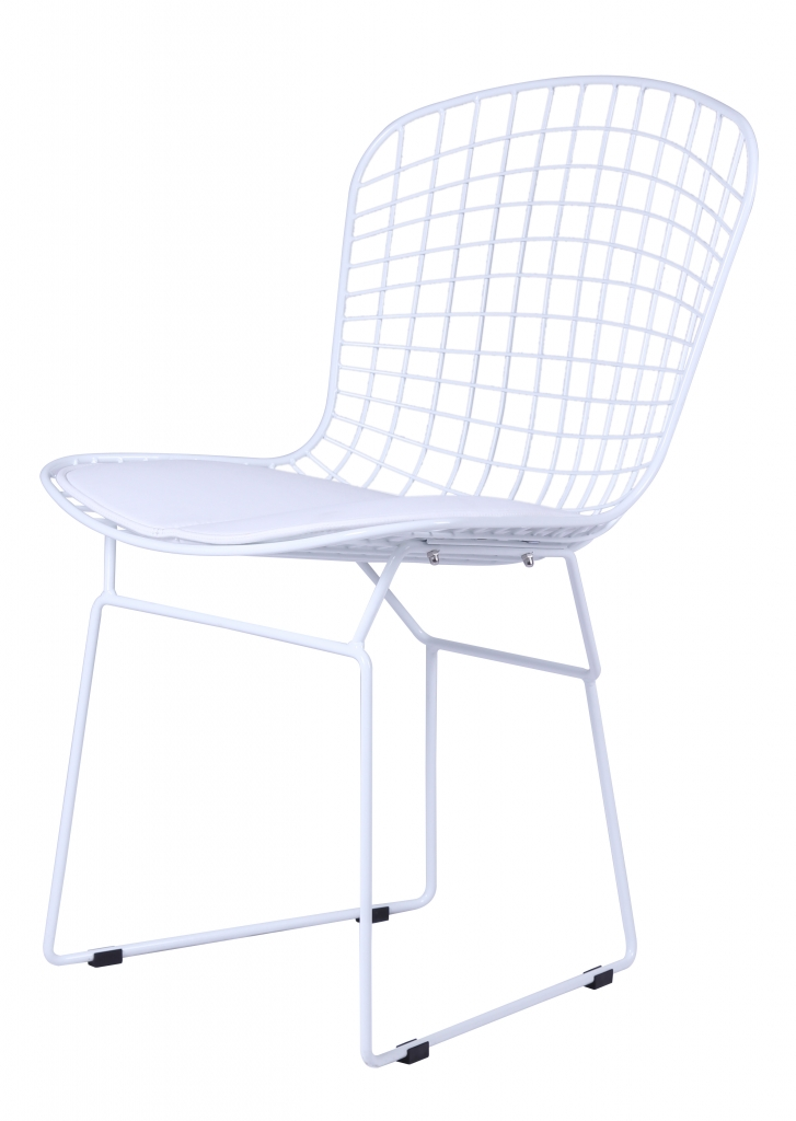 Dyson Modern White Wire Chair 2