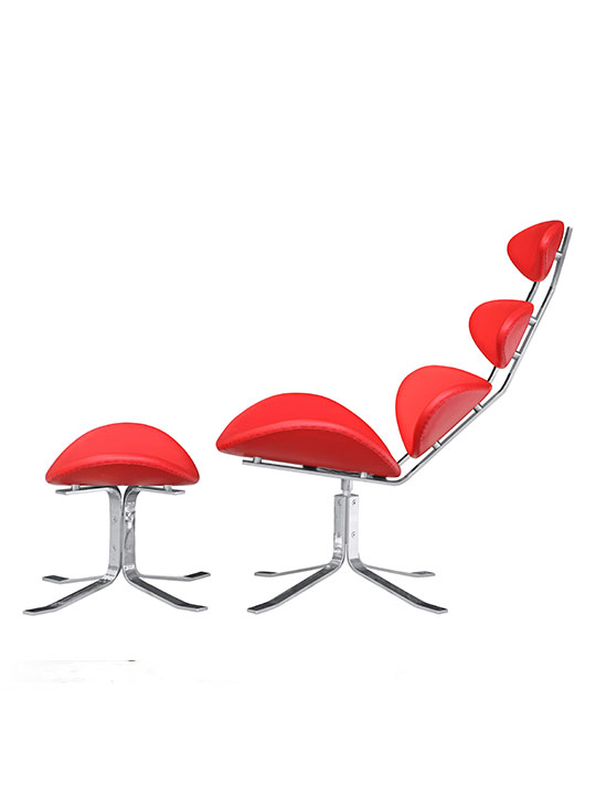 Futuristic Lounge Chair Red 2