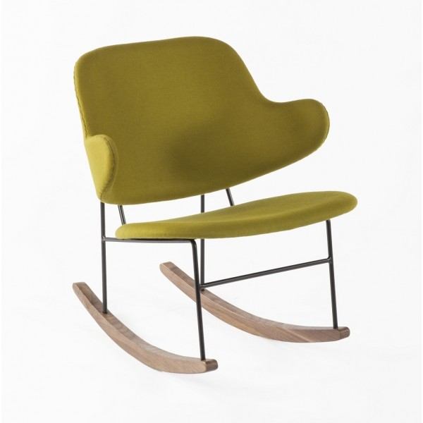 Green Fabric Dublin Rocking Chair