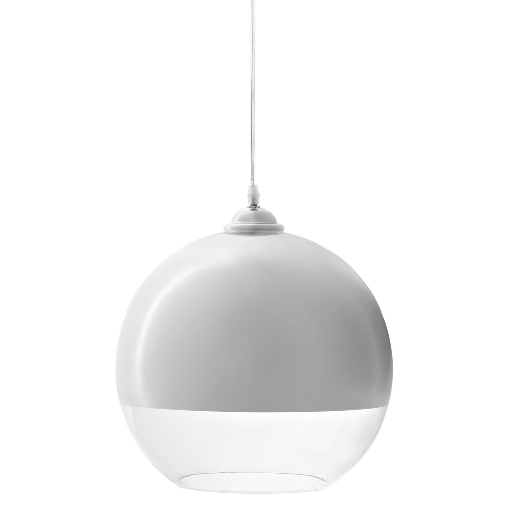 Half Dome White Pendant Light