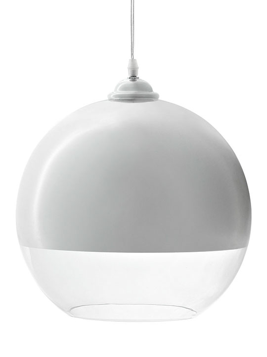 Half Dome White Pendant Light 3