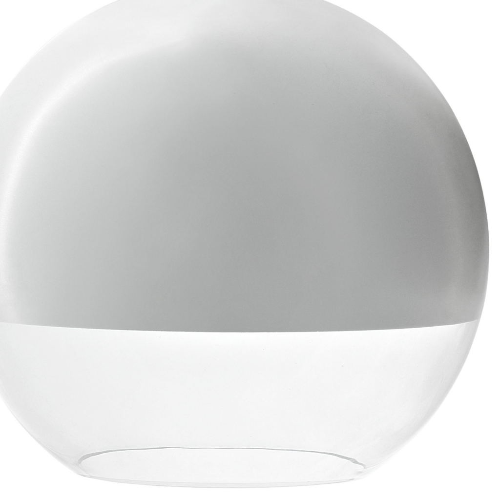 Half Dome White Pendant Light 31