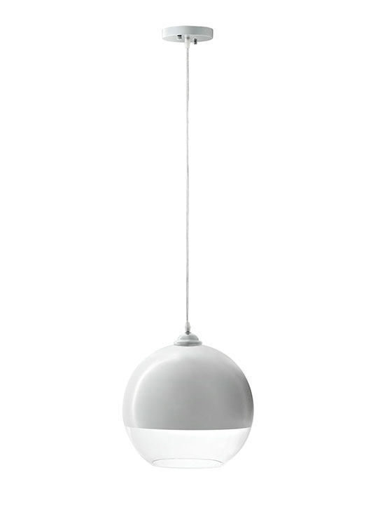 Half Dome White Pendant Lighting