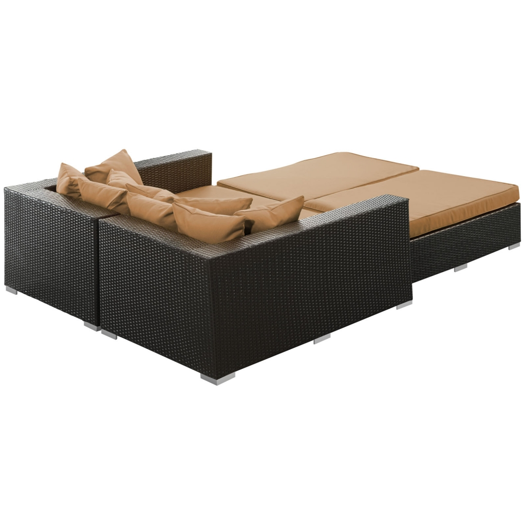 Houston Light Brown Outdoor Lounge Bed