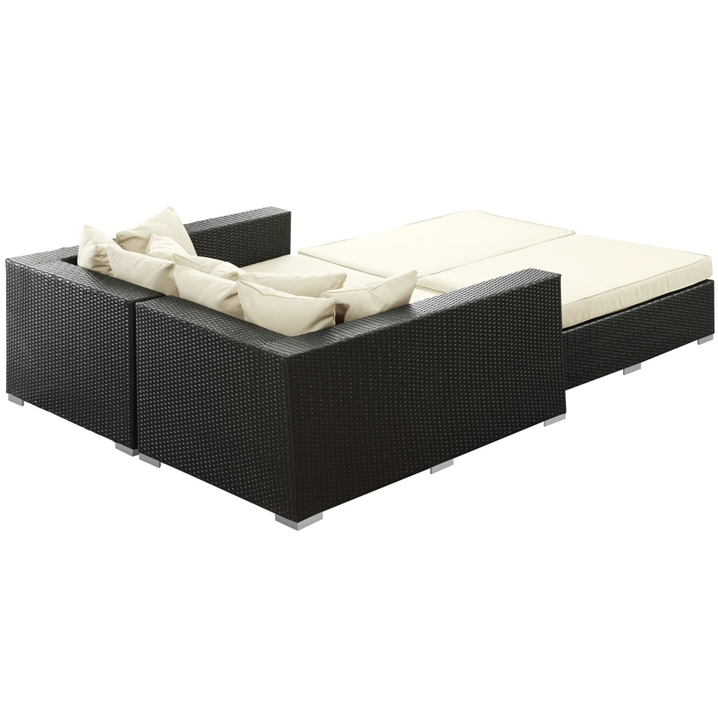 Houston Outdoor Lounge Bed White 2