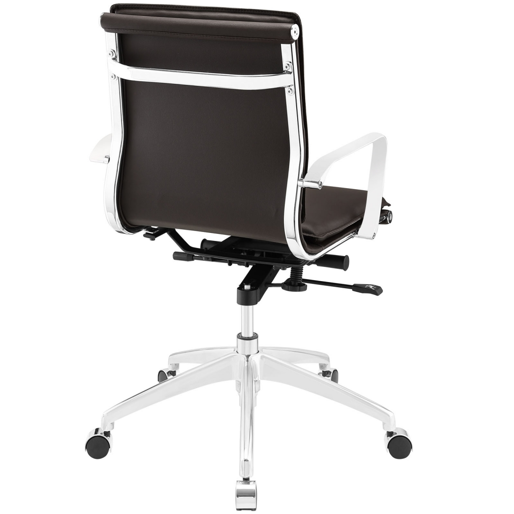 Instant Agent Low Back Brown Office Chair 3