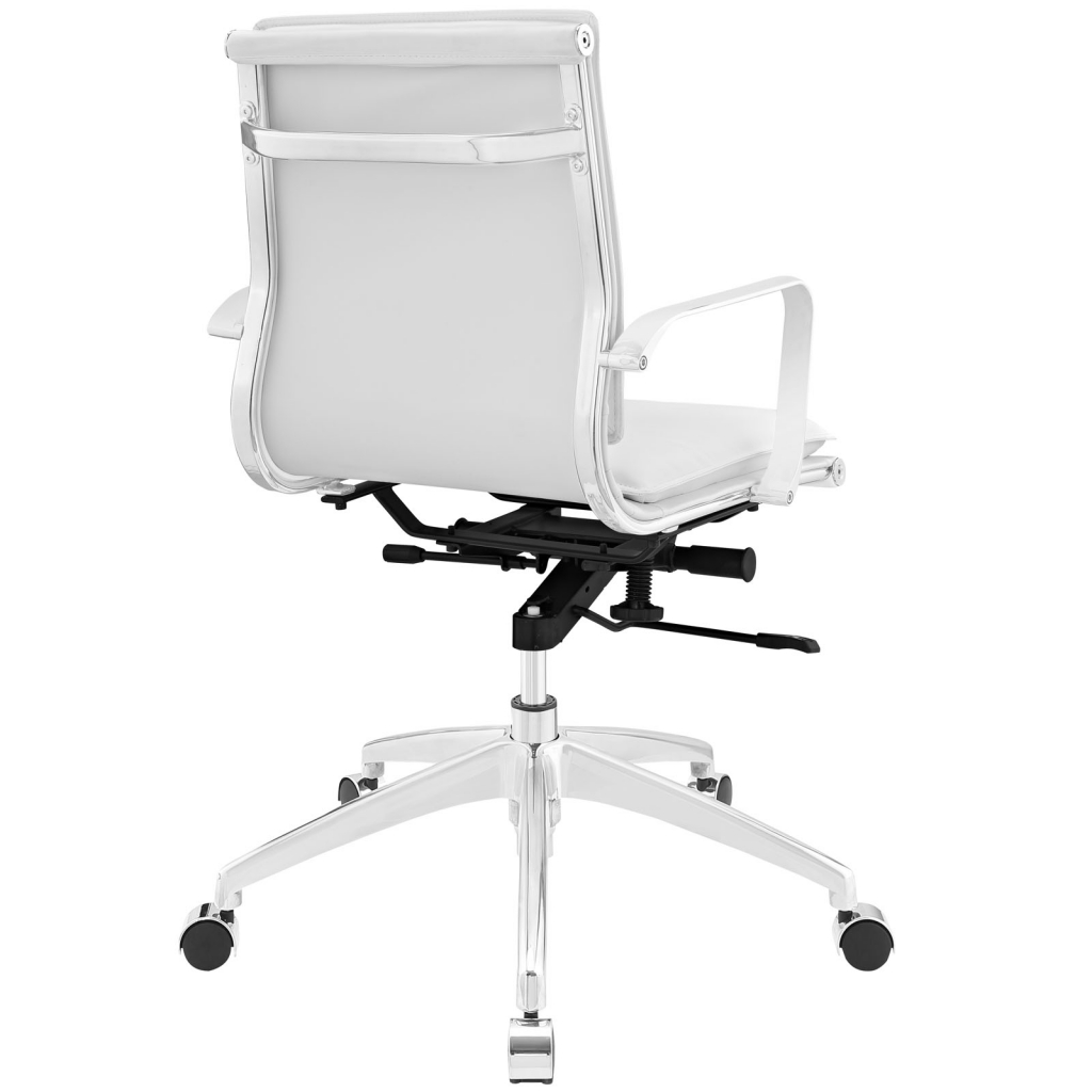 Instant Agent Low Back White Office Chair 3