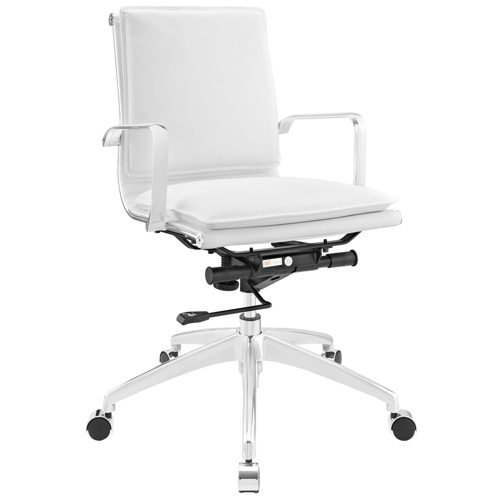 Instant Agent Low Back White Office Chair