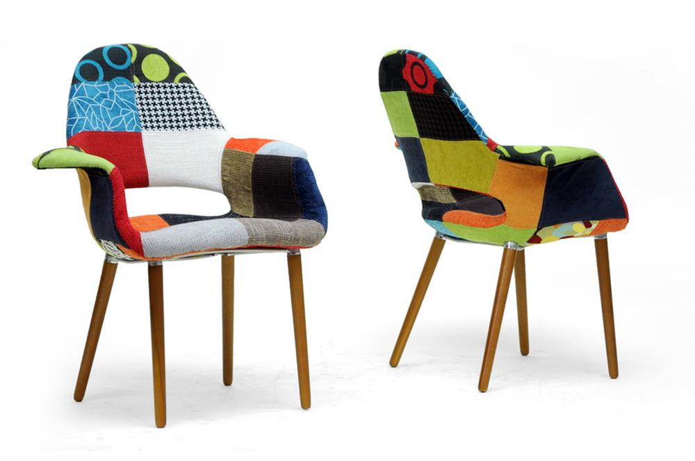 Multicolored Quilted Sage Chair 2 Set