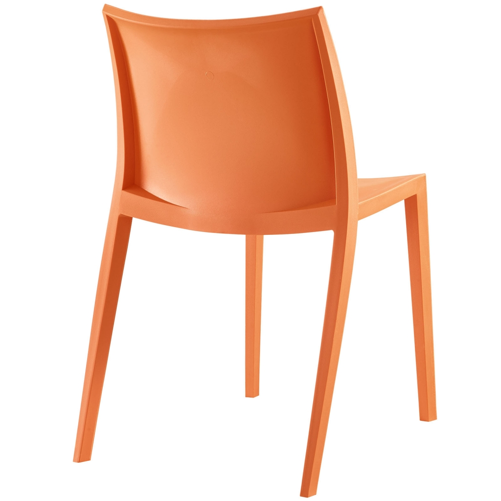 Orange Plastic Cove Chair 3