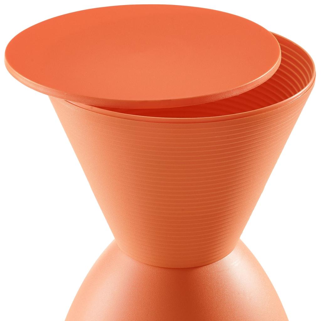 Orange Yogi Storage Stool 2