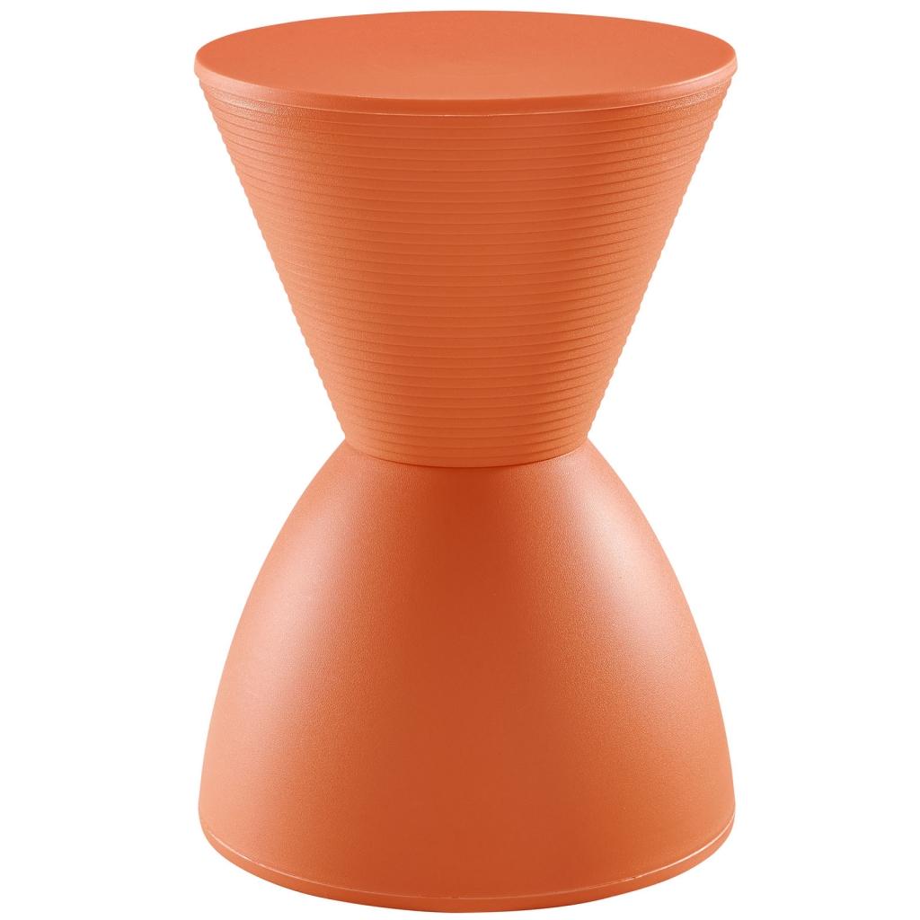 Orange Yogi Storage Stool