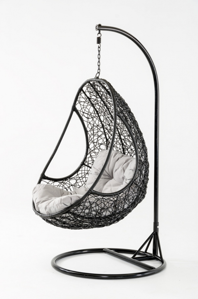 Rest Nest Black Hanging Chair