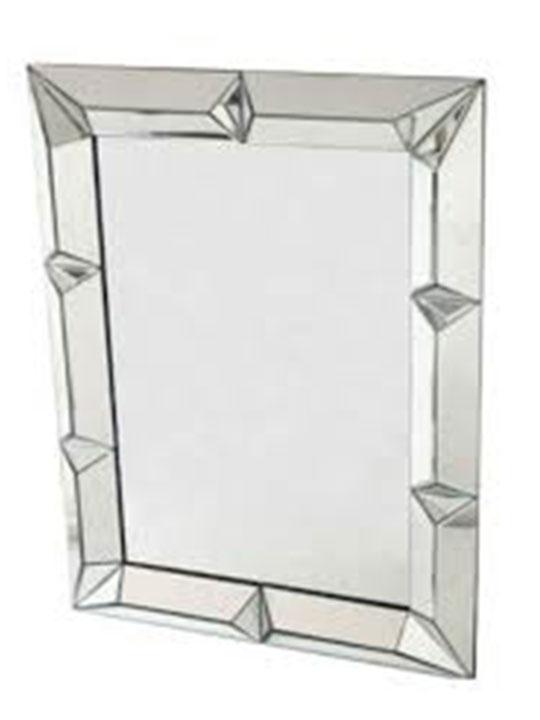 Rivet Square Wall Mirror