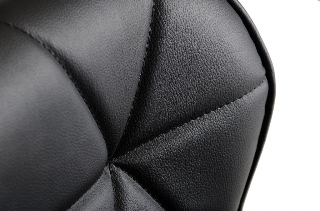 Trellis Pattern Barstool Black 3