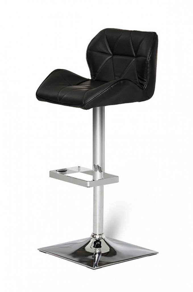 Trellis Pattern Furniture Barstool Black 2