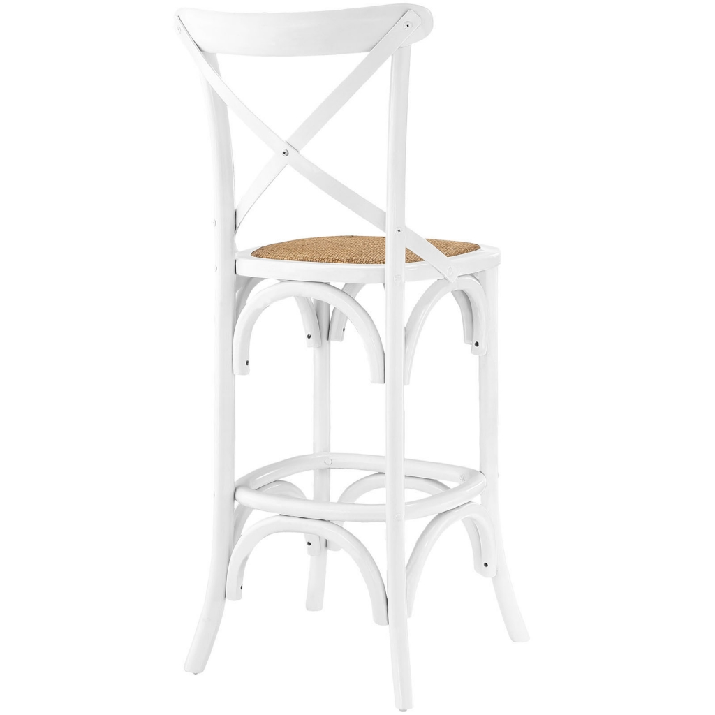 X White Wood Barstool