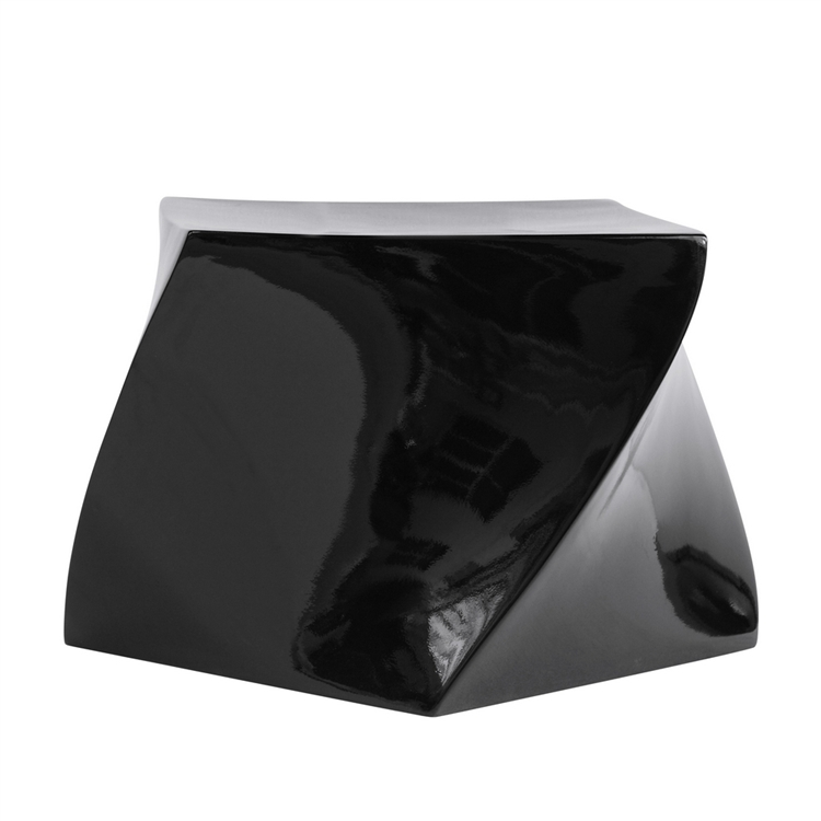 black geo stool 2