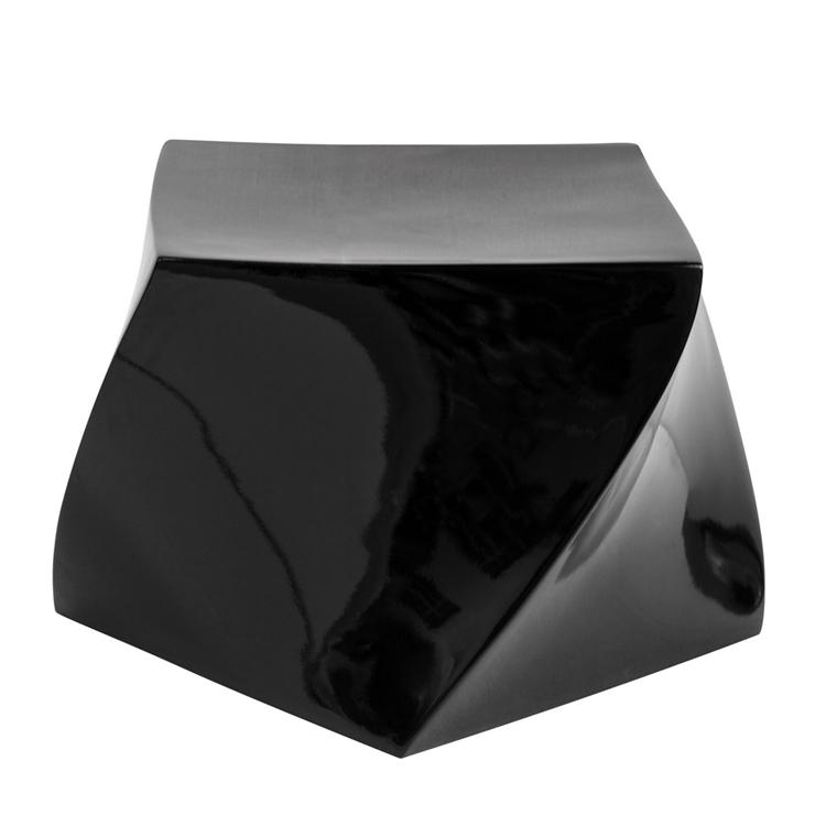 black geo stool 4