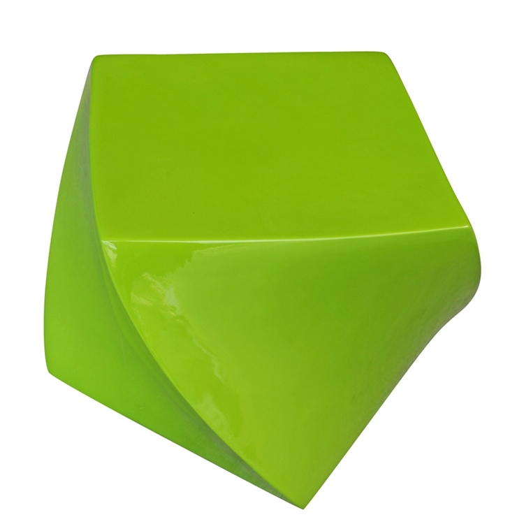 green geo stool