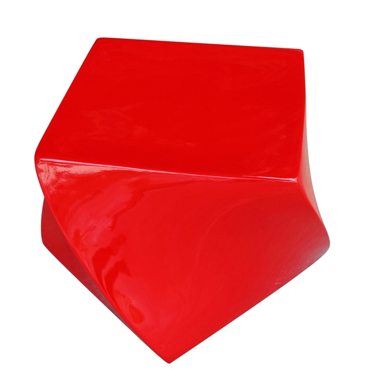 red geo stool 2