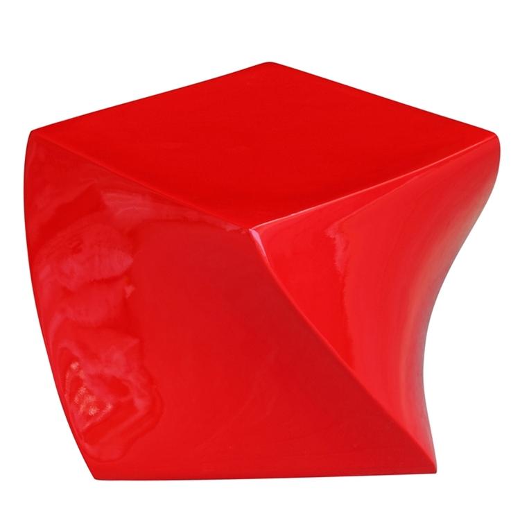 red geo stool