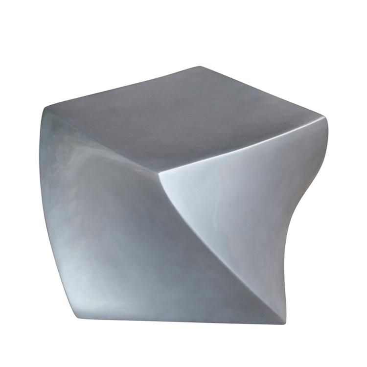 silver geo stool 2